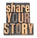 share your story in wood type